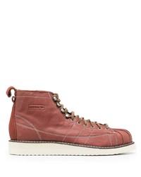 Мужские розовые кожаные повседневные ботинки от adidas