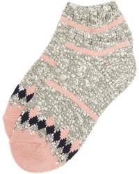 Женские розовые носки в горизонтальную полоску от Madewell