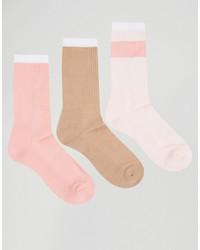 Мужские розовые носки от Asos
