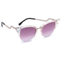 Женские розовые солнцезащитные очки от Fendi