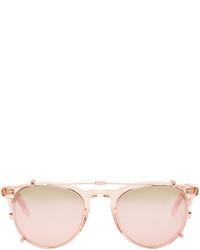 Мужские розовые солнцезащитные очки от Garrett Leight