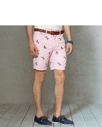Розовые шорты с принтом