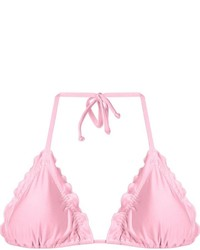 Розовый бикини-топ