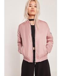 Женский розовый бомбер от Missguided
