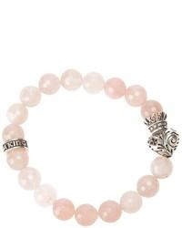 Розовый браслет из бисера от King Baby Studio