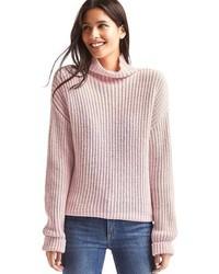 Женский розовый вязаный свободный свитер от Gap