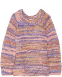 Женский розовый вязаный свободный свитер от Michael Kors