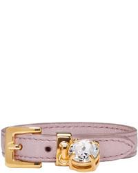 Розовый кожаный браслет от Miu Miu