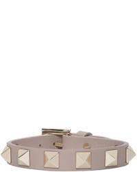 Розовый кожаный браслет от Valentino
