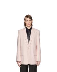 Мужской розовый льняной пиджак от Tibi