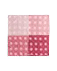 Розовый нагрудный платок в горошек