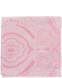 Розовый нагрудный платок с принтом