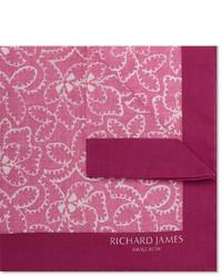 Розовый нагрудный платок с принтом от Richard James