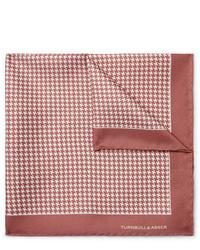 Розовый нагрудный платок с принтом от Turnbull & Asser
