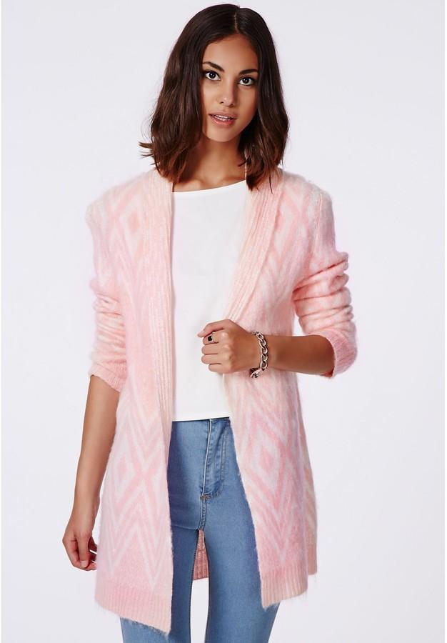с чем носить розовый кардиган фото