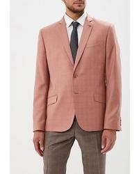 Мужской розовый пиджак в клетку от Absolutex