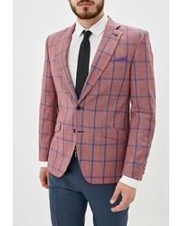 Мужской розовый пиджак в клетку от Bazioni