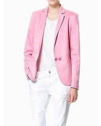 Женский розовый пиджак от Choies