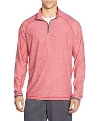 Розовый свитер с воротником на молнии