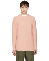 Мужской розовый свитер с круглым вырезом от Acne Studios