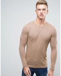 Мужской розовый свитер с круглым вырезом от Asos