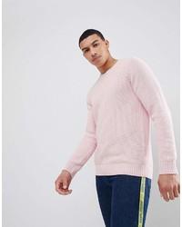 Мужской розовый свитер с круглым вырезом от Pull&Bear