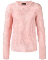 Мужской розовый свитер с круглым вырезом от Raf Simons