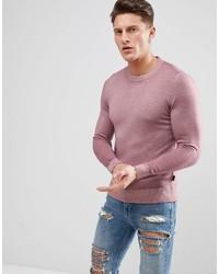 Мужской розовый свитер с круглым вырезом от Ted Baker