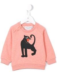 Детский розовый свитер для девочке от Mini Rodini