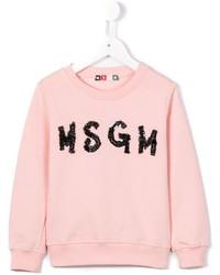 Детский розовый свитер для девочке от MSGM