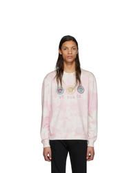 Мужской розовый свитшот с принтом тай-дай от Versace
