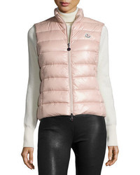 Розовый стеганый жилет