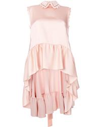 Розовый топ без рукавов с рюшами от Fendi