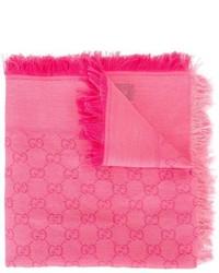 Детский розовый шарф для девочке