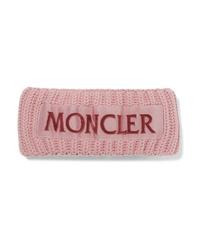 Розовый шерстяной вязаный ободок/повязка от Moncler