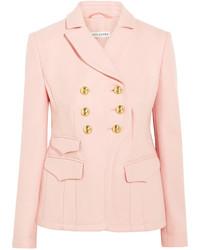Розовый шерстяной пиджак