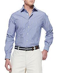 рубашка с длинным рукавом в вертикальную полоску original 364125