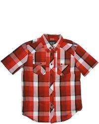 Рубашка с коротким рукавом в шотландскую клетку