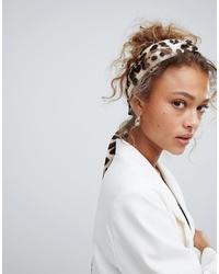 Женская светло-коричневая бандана с леопардовым принтом от ASOS DESIGN