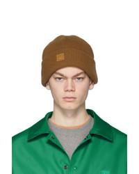 Мужская светло-коричневая вязаная шапка от Acne Studios