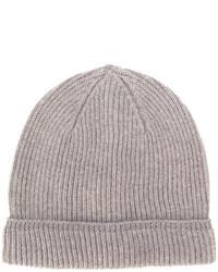 Мужская светло-коричневая вязаная шапка от Canali