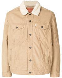 Светло-коричневая джинсовая куртка