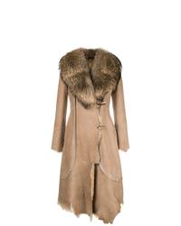 Женская светло-коричневая дубленка от Desa 1972