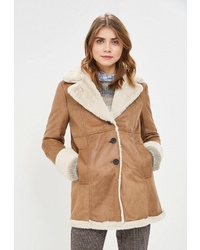 Женская светло-коричневая дубленка от Pepe Jeans
