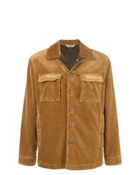 Мужская светло-коричневая замшевая куртка-рубашка от Aspesi