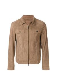 Мужская светло-коричневая замшевая куртка-рубашка от Desa Collection