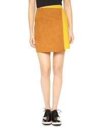 Светло-коричневая замшевая мини-юбка от MSGM