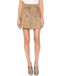 Светло-коричневая замшевая мини-юбка от Ramy Brook