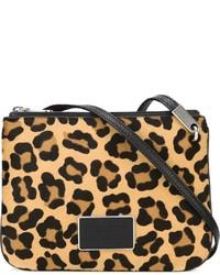 Светло-коричневая замшевая сумка через плечо с леопардовым принтом от Marc by Marc Jacobs