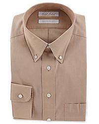 Светло-коричневая классическая рубашка